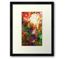 An Angel Descends From His Face Framed Print