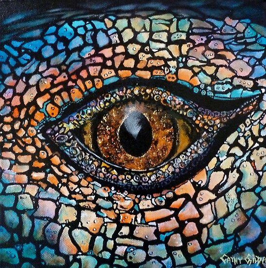 Lizards Eye by Cathy Gilday
