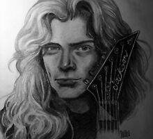 Dave Mustaine Portrait by Julie Bauschardt