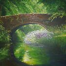 Bridge Between Two Souls, Oil on canvas 80x100cm by lizzyforrester