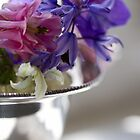 Posy of flowers from the garden by Justine Gordon