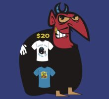 devil tshirt by rogers bros by usahawaii