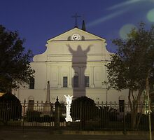 """Open Arms"" - St. Louis Cathedral in New Orleans by John Hartung"
