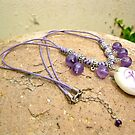 Amethyst and Mystical Indalo charm necklace by Indalo