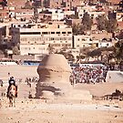 The back of the Sphinx - Pyramids at Giza, Cairo by NicoleBPhotos
