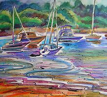 Colors Of Water- Winnererremy Bay, Pittwater, Mona Vale, Australia by Paulina Kazarinov