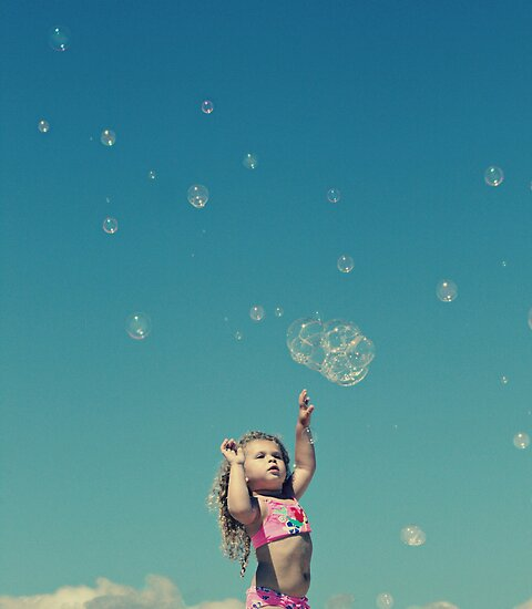 """""""I'm gonna catch every single bubble!"""" by Kristina Gale"""