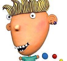 happy boy bouncing ball by claygirrl