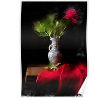 Still life with peony Poster
