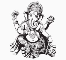 Ganesh designed for light coloured hoodies by dipsmistry