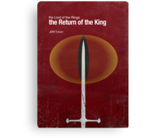 """""""The Return of the King"""" - minimalist poster design Canvas Print"""