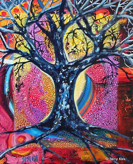 'Tree in an Abstract Landscape' by Jerry Kirk