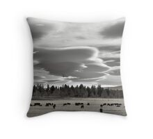 Cloud formations near Sisters Oregon Throw Pillow