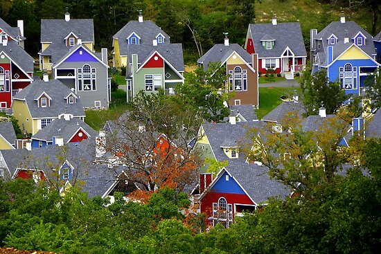 Village Color by NatureGreeting Cards ©ccwri
