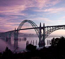 Yaquina Bay Bridge at sunset by Chrisdor