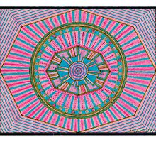 Hot Pink and Blue Kaleidoscope Design by FamousAmos