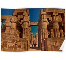 Egypt. Luxor. Luxor Temple. Hypostyle Hall. Poster