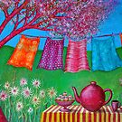 Spring Washing Line by Alice Mason