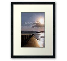 shore breaks Framed Print