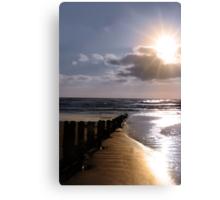 shore breaks Canvas Print