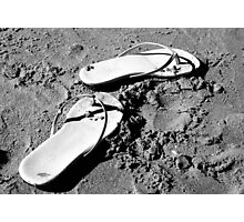 Sandals in the Sand Photographic Print