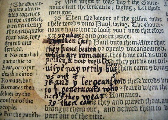 Page from Lothrop Bible 2 by sturgislibrary