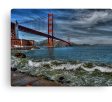 Golden Gate Bridge In Color HDR Canvas Print