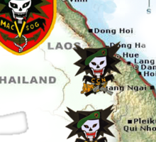 Map of MacVsog's area of operation. Sticker