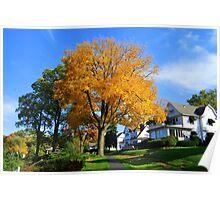 Autumn Colors Around Lake Geneva Wisconsin Poster