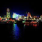 Yokohoma by Night fall by Heather Butler