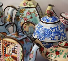 A TEASPOON OF TEAPOTS by Julieholl