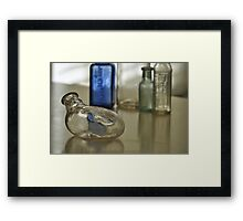 Old Medicine Bottles, As Is Framed Print