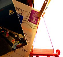 scavenger hunt: red sled, peg and stamp by nadine henley