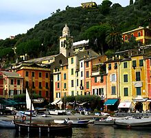 Colourful Portofino by Marilyn Harris