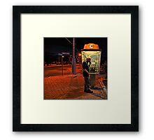 Night Time Caller! Framed Print