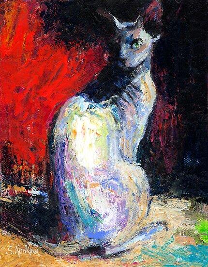 Sphynx Cat painting #32 Svetlana Novikova by Svetlana  Novikova