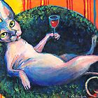 Sphynx Cat &#x27;chilling&#x27; painting Svetlana Novikova by Svetlana  Novikova