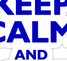 Keep Calm and Scooter On (blue) Sticker