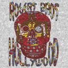 usa hollywood skull  tshirt  by rogers bros co by usahollywood