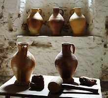 Wine Jugs. Hampton Court, London, England. by David Dutton