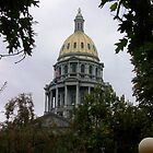 GOLDEN DOME OF COLORADO'S CAPITOL by dragonindenver