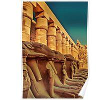 Egypt. Luxor. Karnak Temple. Ram-Headed Sphinxes. Poster