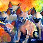 Impressionistic Cat paintings Calendar #1 Svetlana Novikova by Svetlana  Novikova