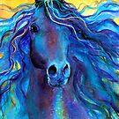 Blue Arabian Horse painting Svetlana Novikova by Svetlana  Novikova