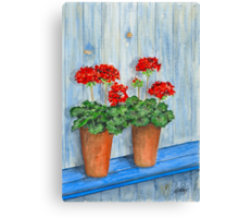 GERANIUMS - WATERCOLOR Canvas Print