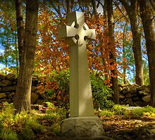 Celtic Cross in Autumn by Monica M. Scanlan
