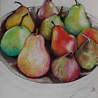 Pencilled Pears by Jessica  Holliday