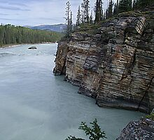 Outflow of Athabasca Falls by George Cousins