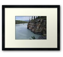 Outflow of Athabasca Falls Framed Print