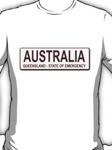 Qld/Australia Number Plate T-Shirt